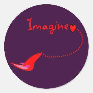 """Imagine""---John Gifts Stickers"