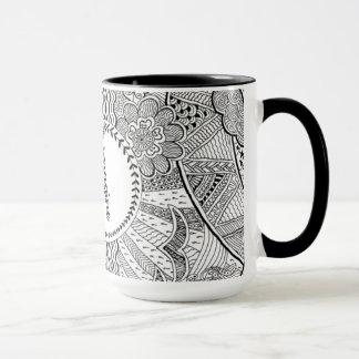 Imagine (monochrome) mug