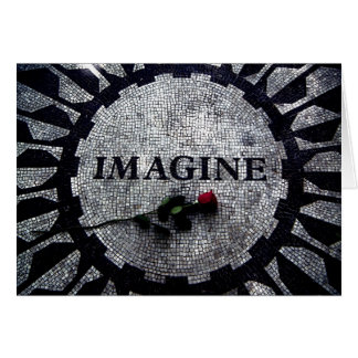 Imagine Monument with Red Rose Card