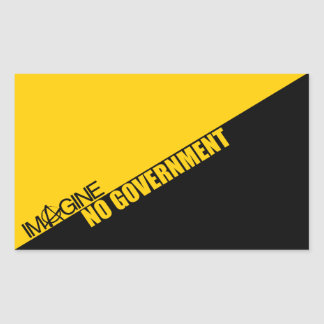 Imagine No Government Sticker