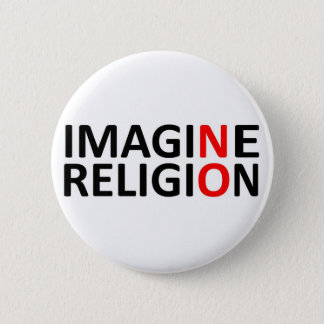 Imagine No Religion 2 Inch Round Button
