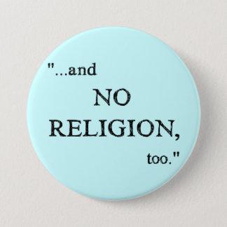 Imagine No Religion 3 Inch Round Button