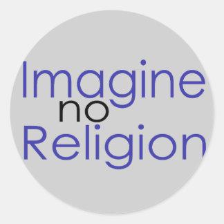 Imagine no Religion Round Sticker