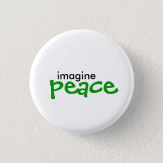 imagine, peace 1 inch round button