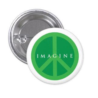 Imagine Peace 1 Inch Round Button