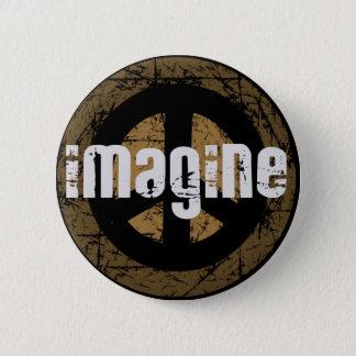 Imagine peace 2 inch round button