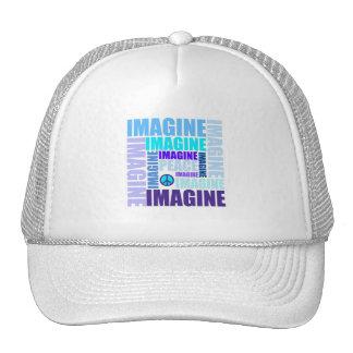 'Imagine Peace' Blue Mesh Hat