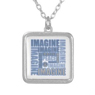 'Imagine Peace' Blue Necklace