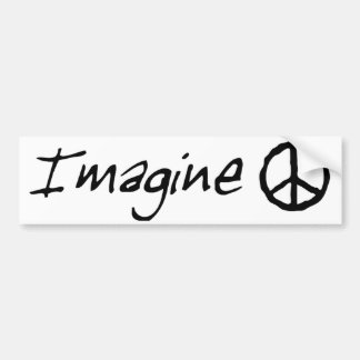 Imagine Peace Bumber Sticker Bumper Sticker