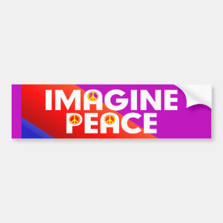 imagine peace bumper sticker