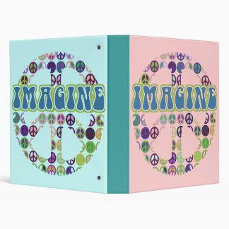 Imagine Peace Notebook Vinyl Binders