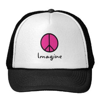 Imagine PINK PEACE symbol Trucker Hat