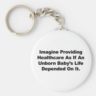Imagine Providing Healthcare for Unborn Babies Keychain