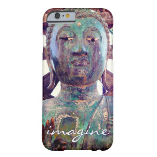 """Imagine"" Quote Asian Turquoise Statue Head Photo Barely There iPhone 6 Case"