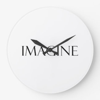 Imagine Quotes Inspirational Imagination Quote Large Clock