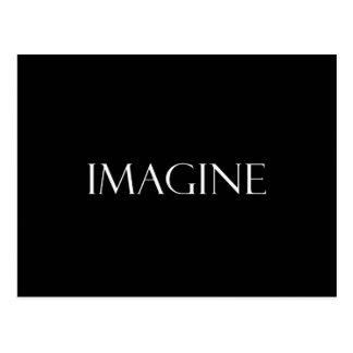 Imagine Quotes Inspirational Imagination Quote Postcard