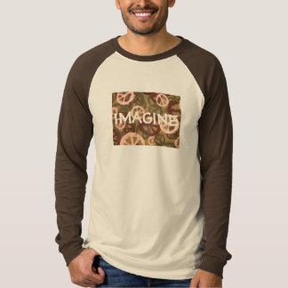 IMAGINE-Saying-2 Tone/Long Sleeve T-Shirt