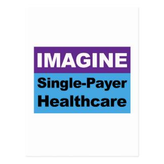 Imagine Single Payer Healthcare Postcard