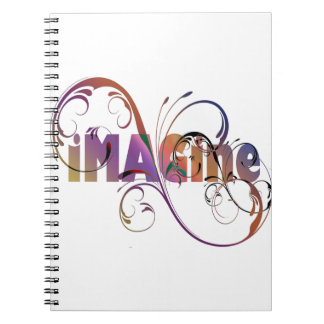 """Imagine"" Spiral Notebook"