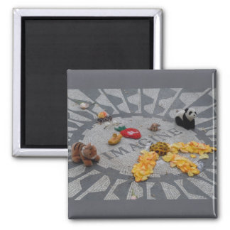 Imagine Strawberry Fields Central Park NYC photo Square Magnet