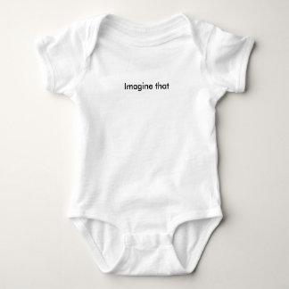 Imagine That Text Baby Bodysuit