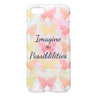 Imagine the Possibilities Inspirational Butterfly iPhone 7 Case