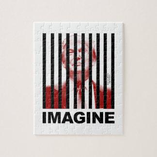 Imagine Trump Behind Bars Jigsaw Puzzle