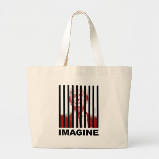 Imagine Trump Behind Bars Large Tote Bag