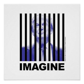Imagine Trump Behind Bars Poster