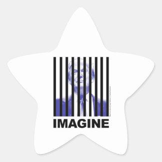 Imagine Trump Behind Bars Star Sticker