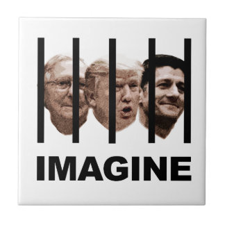 Imagine Trump, McConnell and Ryan Behind Bars Tile