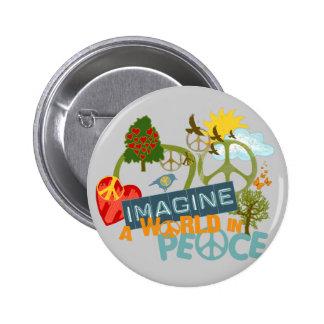 Imagine World Peace 2 Inch Round Button