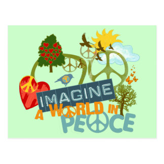 Imagine World Peace Postcard