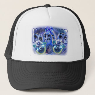 IMAGINE YOURSELF CALM WELL RELAXED TRUCKER HAT