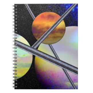 Imagined Worlds Spiral Notebook
