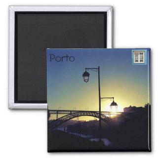 Íman Magical Porto (Of My Window) Square Magnet