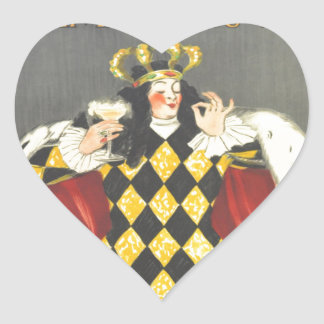 Imbibed by Royalty Heart Sticker