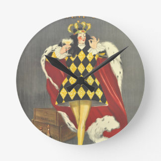 Imbibed by Royalty Round Clock