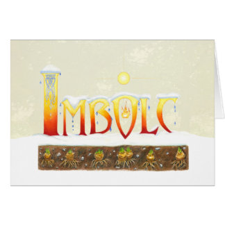 Imbolc Drips Card