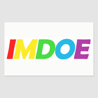 imdoe Rectangle Sticker