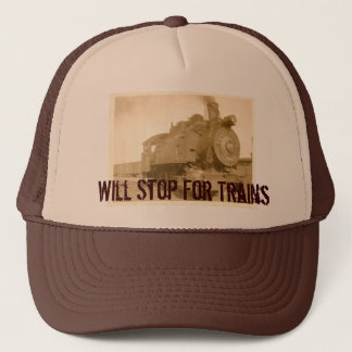 IMG_0003_NEW, Will Stop For Trains Trucker Hat