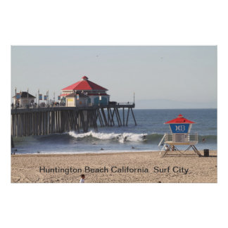 IMG_0073, Huntington Beach California  Surf City Poster