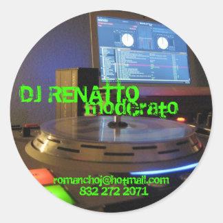 IMG_0415, DJ RENATTO, moderato, 832 272 2071, r... Classic Round Sticker