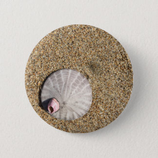 IMG_0578.JPG  Sandollar seashell on beach 2 Inch Round Button