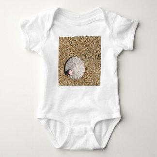 IMG_0578.JPG  Sandollar seashell on beach Baby Bodysuit
