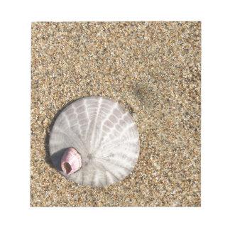 IMG_0578.JPG  Sandollar seashell on beach Notepad