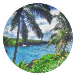 IMG_1122 4 Hawaiian Scene Plate