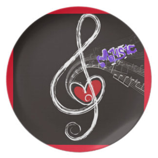 IMG_1857.JPG customizable  Music note designed Plate