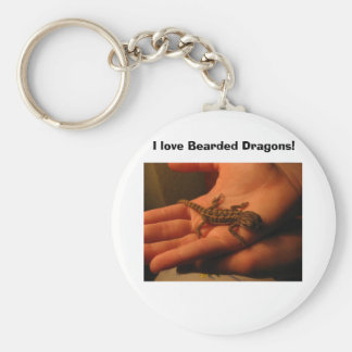IMG_2150, I love Bearded Dragons! Basic Round Button Keychain