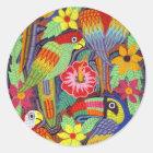 IMG_5319 Birds of Panama Mola Classic Round Sticker